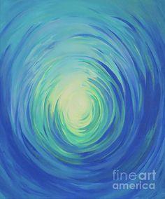 Abstract passageway towards light, painted by Alexandra Kiczuk in Swirls, Original Artwork, Greeting Cards, Invitations, America, Fine Art, Group, Art Prints, Wall Art