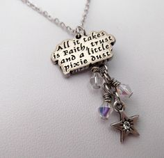 All It Takes Is Faith Trust And A Little Pixie by LittleGemsbyJax, $28.00