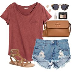 A fashion look from July 2015 featuring H&M t-shirts, Boohoo shorts and Sam Edelman sandals. Browse and shop related looks.