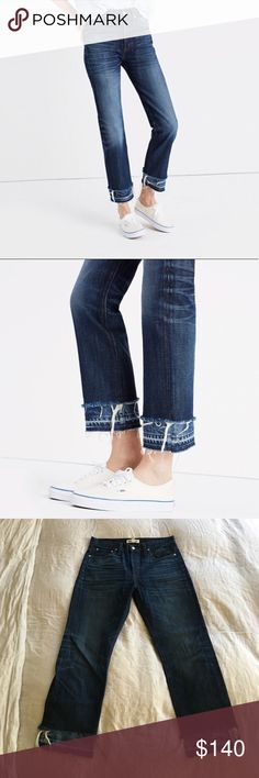 "Rivet & Thread High Rise Boyjeans : Double Hem Madewell's own brand ""Rivet & Thread"". True to size. 100% cotton. Made with the highest quality Japanese denim. Rise 10 1/2 inches. Inseam 28 1/2inches. Leg opening 14 1/2inches. Madewell Jeans Boyfriend"