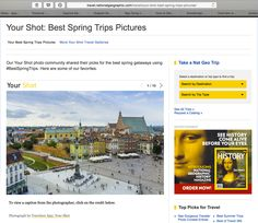 Just discovered my image as No.1 image in #NatGeoEditorsPick in #BestSpringTrips gallery! #FeelsNice #OldTownWarsaw