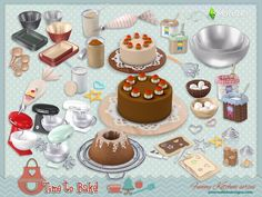 After several requests we decided to bring to your sims4 the Funny kitchen series. Now, it's time to bake ^^  by SIMcredibledesigns.com  Found in TSR Category 'Sims 4 Decorative Sets'