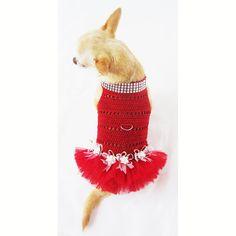 Dog Tutu Dresses Hot Sexy Handmade Crochet Teacup by myknitt