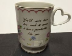 1984 Lefton China Grandmother Coffee Mug Tea Cup Floral Heart Handle 04612 Rose | eBay