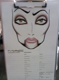 Face chart i did: Halloween 2010