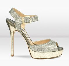 Jimmy Choo | Linda | Glitter Fabric Platform Sandals | JIMMYCHOO.COM. $695US. 120mm Heel.
