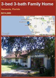3-bed 3-bath Family Home in Sarasota, Florida ►$214,900 #PropertyForSale #RealEstate #Florida http://florida-magic.com/properties/77838-family-home-for-sale-in-sarasota-florida-with-3-bedroom-3-bathroom