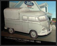 Volkswagen Doublecab Free Vehicle Paper Model Download