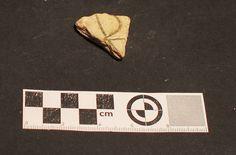 Fragmento de Loza italiana sgrafito encontrada en excavación en Mondoñedo http://mondomedieval.blogspot.com.es/search?updated-max=2016-12-03T07:16:00-08:00