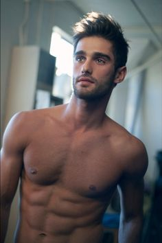 Ricardo Baldin, Brazilian model, b. 1987, handsome guy, despite the stupid hairdo.