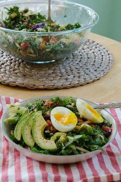 BLT Breakfast Salad With Soft Boiled Eggs & Avocado | soletshangout.com