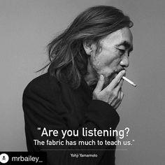 #Repost @mrbailey_ #yohji #yamamoto #y3 #quote #id #fashiondesign