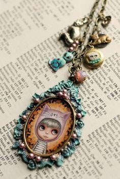 Kitty -  custom Blythe cameo by Mab Graves