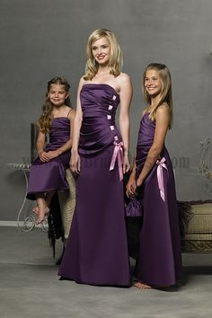 Pink Bridesmaids - http://casualweddingdresses.net/to-uniform-the ...