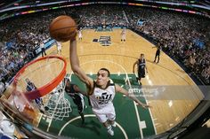 SALT LAKE CITY, UT - APRIL 10: Rudy Gobert #27 of the Utah Jazz dunks against the Memphis Grizzlies during the game on April 10, 2015 at EnergySolutions Arena in Salt Lake City, Utah. Description from gettyimages.com. I searched for this on bing.com/images