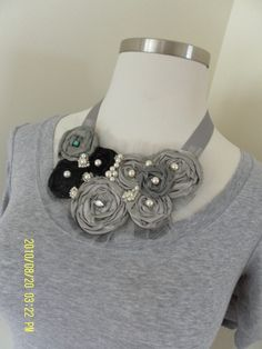 ALICE Necklace  Gray and Black with a touch of by ZeppelinXylene