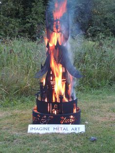 Five-Foot Lord Of The Rings Barad-dûr Tower Fire Pit Who all is up for a LOTR bonfire? Into The West, Into The Fire, Tolkien, Lotr, Barad Dur, Outdoor Fire, Outdoor Stuff, One Ring, Lord Of The Rings