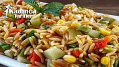 Ğı iye pa Barley Noodle Salad / Ingredients: 2 cups of barley . - Delicious Meets Healthy: Quick and Healthy Wholesome Recipes Salad Menu, Salad Dishes, Pasta Salad Recipes, Noodle Recipes, Crab Stuffed Avocado, Cottage Cheese Salad, Turkish Recipes, Ethnic Recipes, Dinner Salads