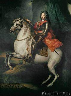 Johann-Gottfried Auerbach - Prinz Eugen / Gemälde v.Auerbach