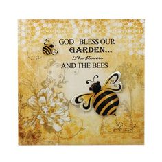 Bumble Bee Tin Wall Art