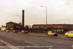 View of Turney Brothers Leather Works from Trent Bridge, Meadows, Nottingham, 1983 Old English Tattoo, Image Archive, Derbyshire, Nottingham, Historical Photos, Cn Tower, The Past, Old Things, Street View