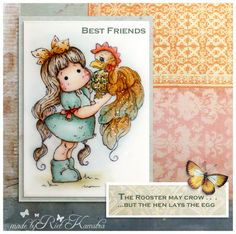 Tilda with Mr. Rooster card