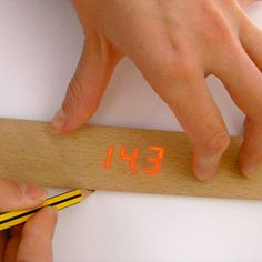 An electronic ruler: Place a pencil on the ruler and the integrated sensor will display that points length on the ruler.