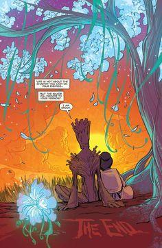 "geek-ramblings: "" lorna-ka: "" friendly-neighborhood-patriarch: "" mrkenyon: "" why-i-love-comics: "" Groot ""written by Jeff Loveness art by Brian Kesinger "" "" I did not ask for tears this."