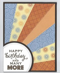 stitched scrappy rays by happy-stamper - Cards and Paper Crafts at Splitcoaststampers