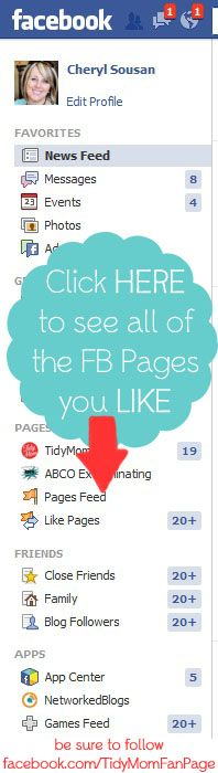 How to See Facebook Pages and Blogs in Your Facebook Feed Again via @cheryl ng Sousan | Tidymom.net