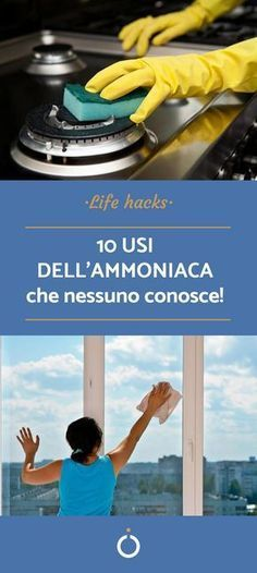 10 Verwendungen von Ammoniak - Pulire casa - HoMe Ideas Para Organizar, Sr1, Desperate Housewives, Natural Cleaning Products, Home Hacks, Hacks Diy, Housewife, Tutorial, Problem Solving