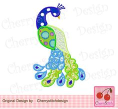 Peacock Digital Embroidery designPeacock by CherryStitchDesign, $2.99