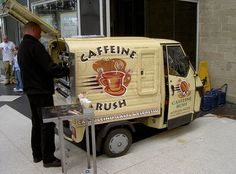 Vespresso Mobile- Carlisle rail station, England.  Is this not adorable?