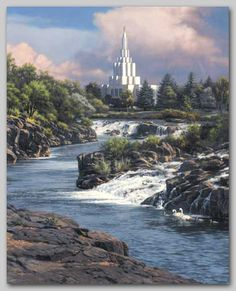 Painting by one of my professors-his work is so good!  How Beautiful Thy Temple, Lord - Leon Parson