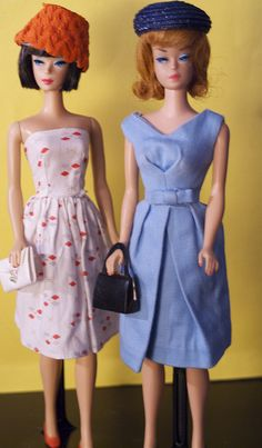 Barbies in vintage clothes | Flickr - Photo Sharing!