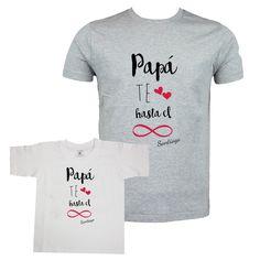 Camisetas divertidas para regalar a padres. Personalizadas con el nombre  del niño. Regalos De 061bdec991e70