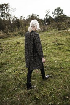 Goddess Oversized Longline Heather Cardigan - OASAP.com