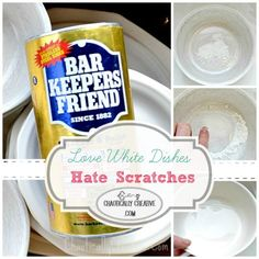 The BEST white dish scratch removal