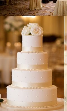 WeddingChannel Galleries: White Wedding Cake - pretty all white cake but may be too plain. WeddingChannel Galleries: White Wedding Cake - pretty all white cake but may be too plain. Wedding Cake Pearls, Wedding Cake Fresh Flowers, Diy Wedding Cake, White Wedding Cakes, Elegant Wedding Cakes, Beautiful Wedding Cakes, Wedding Cake Toppers, Beautiful Cakes, Wedding Cake Designs