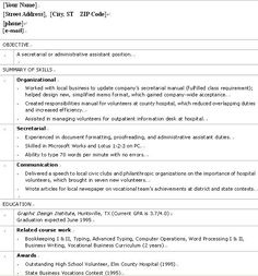 sample resume for high school student httpwwwresumecareerinfo - Sample Resume High School