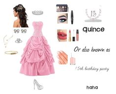 """""""Quinceanera"""" by star105 ❤ liked on Polyvore featuring Betsey Johnson, Sterling Essentials, Bling Jewelry, NYX, Bobbi Brown Cosmetics, Charlotte Tilbury, Dolce&Gabbana, Elegant Touch, Essie and Rebecca Minkoff"""