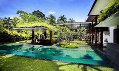 Beautiful roof garden house