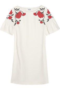 ALICE by Temperley Poppy Story silk-appliquéd crepe mini dress | NET-A-PORTER