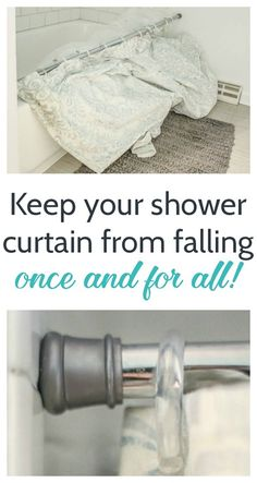 How to keep your shower curtain from falling down