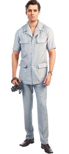 d8b6d6c2bfc Sahara Sky Blue Safari Suit -