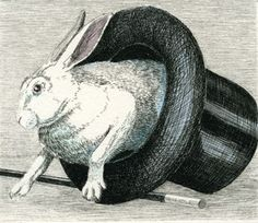 """Presto"" by James Lorigan - 2005 hand-colored hard-ground etching  image size 3""x 2.5"" edition of 50"