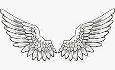 Hand-painted Angel Wings PNG - angel, angel clipart, decoration, hand painted clipart, line Wing Neck Tattoo, Wing Tattoos On Back, Neck Tattoo For Guys, Tattoos For Guys, Chest Tattoo, Eagle Wing Tattoos, Angel Wings Clip Art, Angel Wings Png, Angel Wings Drawing
