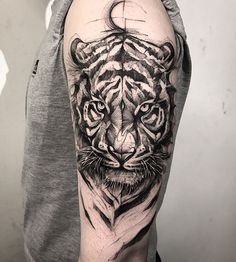 Tiger tattoos meaning and design ideas tiger tattoo ideas id Tatuajes Tattoos, Dope Tattoos, Trendy Tattoos, Forearm Tattoos, Body Art Tattoos, Hand Tattoos, Small Tattoos, Tattoos For Guys, Tattoo Thigh