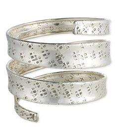 Look what I found on #zulily! Silvertone Coil Bracelet #zulilyfinds