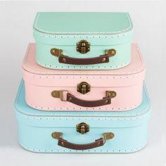Le 3 set de 3 valises pastel - Place du Mariage